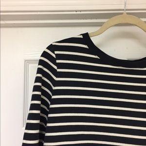 Lands end striped sweatshirt. Size M